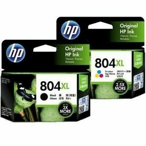 Genuine HP #804XL COLOR+BLACK Combo set Ink  for ENVY 6220/6222/7120/7820/7822