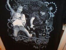Sugarland The Incredible Machine Tour Black T Shirt Sz L