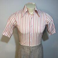 Vtg 50s 60s ARROW Kent DECTON Perma Sanforized Button Dress Shirt Mens 14 14.5