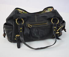 FOSSIL Black Pebbled Leather Hand Bag Purse Tote Shouder Satchel Hobo Shopper L