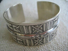 TUAREG FINE SILVER Hand Engraved Cuff With Traditional Designs~Adjustable