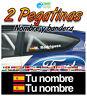 Nombre y bandera Carrera de coches Rally Ventana trasera