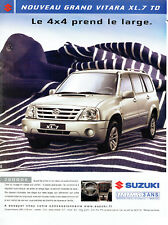 Publicité Advertising 018  2004   le nouveau Suzuki Grand Vitara 4x4  XL7 TD