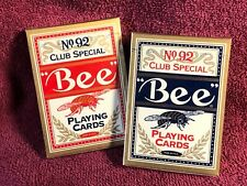 12 DECKS Bee Club Special classic playing cards FREE USA SHIPPING