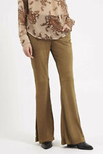 Flared Polyester Tailored Trousers for Women