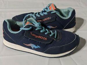 Vintage Kangaroos Women's Shoes Size 6 Blue Zip Pocket