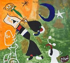 Vintage Abstract Painting /Joan/ Miró, Modern Old 20th Century Art