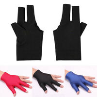 Lycra Snooker Billiard Cue Gloves Pool Left Hand Open Three Finger Glove Comely