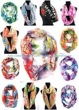 US SELLER , 10PC vintage floral circle loop Cheap Cute Infinity Scarves