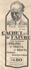W2391 Cachet del Dott. FAIVRE - Pubblicità del 1930 - Vintage advertising