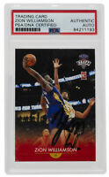 2019-20 Zion Williamson Signed Generations Next #1 Basketball Card PSA