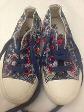 Flower Girl - scarpe da ginnastica - blu a fiori  - N° 26 -  con stringhe USATE