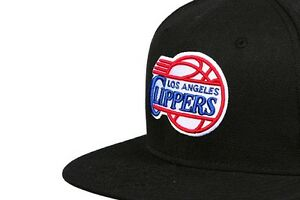 NBA Los Angeles Clippers Old School Team Logo Black Retro Snapback Cap Hat