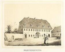 KÖTZSCHWITZ - RITTERGUT KÖTZSCHWITZ - Poenicke - Tonlithografie 1860