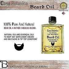 Beard Oil For Men - Grooms Beard, Mustache, Boosts Hair Growth. Top Quality 100%