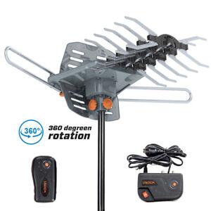 480 Miles Outdoor TV Antenna Motorized Amplified HDTV 1080P 4K V/U 360° Rotation