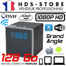 RÉVEIL CAMÉRA ESPION IP WIFI RVLIP2 FULL HD 1080P + MICRO SD 128 GO INFRAROUGE