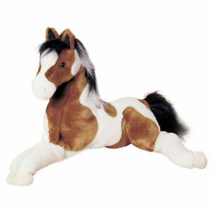 Plüschpferd liegend braun weiß Stofftier Pferd Kuscheltier Plüschtier 55 cm groß
