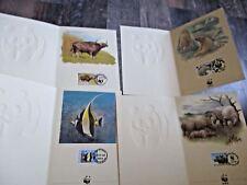 4 x WWF Grusskarten-Set 1984-1987 = 16 Maxi-Karten + Kuvert + Papier@Neu & OVP