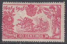 QUIJOTE * 262 - AÑO 1905 - 40 C. ROSA - NUEVO CON GOMA ORIGINAL