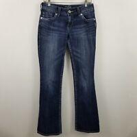 Silver Suki Boot Cut Womens Dark Wash Blue Jeans Size 28 x 34