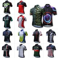 Road Bike Mens Cycling Short Sleeve Jerseys Tops T-shirt Bicycle Clothing Multi