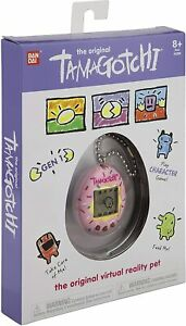 Tamagotchi Original Sprinkles Pink Interactive Virtual Pet Keyring New