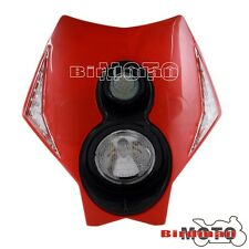 Motorcycle Front LED Head Light Fairing Enduro Cross Stycle Dual Sport CRF Red