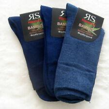 3 Paar Damen Bambus - Melange Socken ohne Gummi 3 Blau Töne 35 - 42