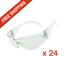 24 x Clear Safety Glasses Eye Protection PPE Australian Standards