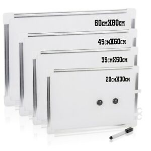 Aluminium Framed Whiteboard Magnetic White Board Double Sided Dry Wipe Notice