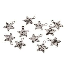 Just For You Word Beads Star Tibetan Silver Charms Pendant Bracelet 11*11mm20pcs