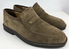 Hush Puppies Brown Leather mens moccasin slip on shoes size 7 40