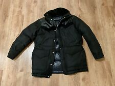 Alexander Wang Goose Down Men's Winter Coat Size S In Black With a Leather Trim