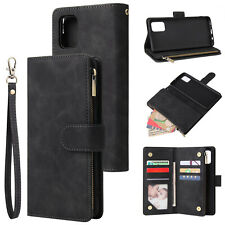 For Samsung A21s S20 FE A51 S10 S9 S8 Zip Wallet Case Leather Flip Phone Cover