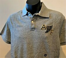 ABERCROMBIE & FITCH POLO SHIRT Mens Grey Heritage Logo T-Shirt Top Size 2XL NWT