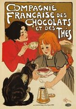 AP136 Vintage French Chocolate And Tea Art Advertisement Poster Card Print A5