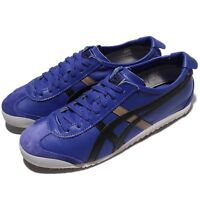 Asics Onitsuka Tiger Mexico 66 Blue Blue Leather Men Shoes Sneakers D4J2L-4590