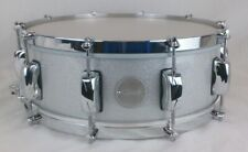 Click 5.5x14 10ply Maple Electric Silver Sparkle No Flange Hoops
