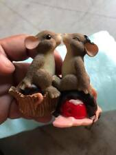 """Signed Fitz & Floyd Charming Tails """"Candy Kisses"""" figure"""