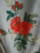 CURTAINS LINED VTG 80s CENTENARY ROSE G.P & J BAKER LTD cotton chintz 190 x 125