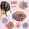 100pcs /lot Hair Ties Ponytail Holder Elastic Rope Kid Head-Band Hairband CC