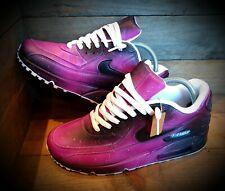 Nike Air Max 90/Custom Painted/Black-Purple/Ultra/Essential/ID/Force 1/Huarache