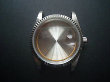 UNBRANDED VINTAGE STYLE 36MM STEEL DATEJUST FLUTED BEZEL WATCH CASE FIT ETA 2836