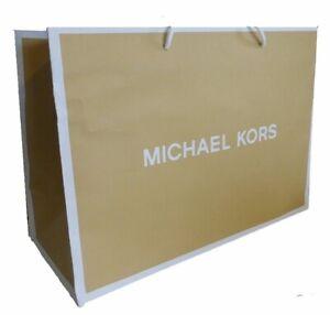 "2 Michael Kors Medium Reusable Gift Bags Totes,  15""x 11"" X 6.5"""