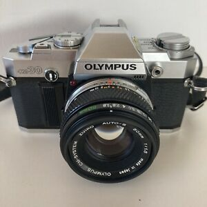 Olympus OM30 35mm SLR Film Camera, 50mm Lens Excellent