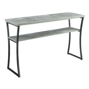 Convenience Concepts X-Caliber Console Table, Faux Birch - 111599GY