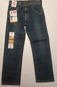 Wrangler Boys 7 Regular Straight Fit Jeans W/ Adjustable Waist Flex New With Tag