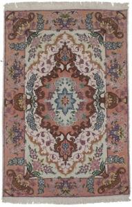 Vase & Medallion Design Classic 2X3 Extra Fine Handmade Oriental Area Rug Carpet