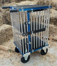 "Titan Double Decker Aluminium Dog Show Trolley - with 8"" All Terrain Wheels"